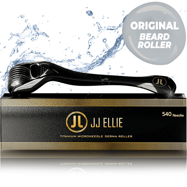 JJ ELLIE Beard Roller : Microneedling Home Beard Care Roller 0.25mm