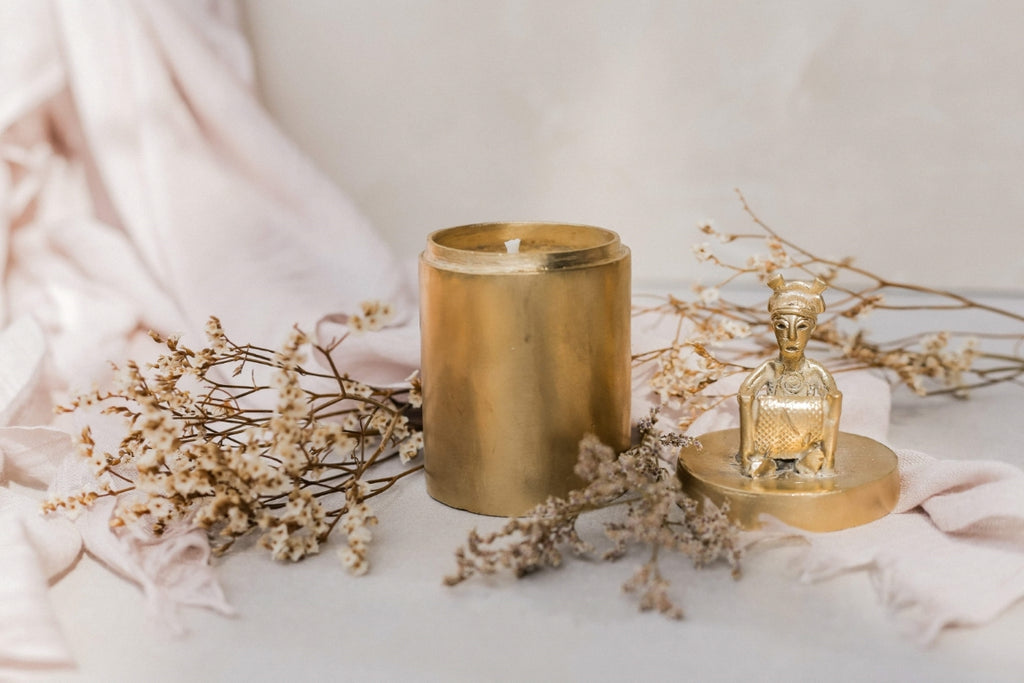 Brass candle holders. A collaboration with Saan Saan and ANTHILL
