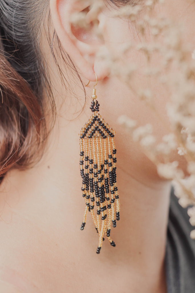 Tboli Beaded Kolon Tassle Earrings
