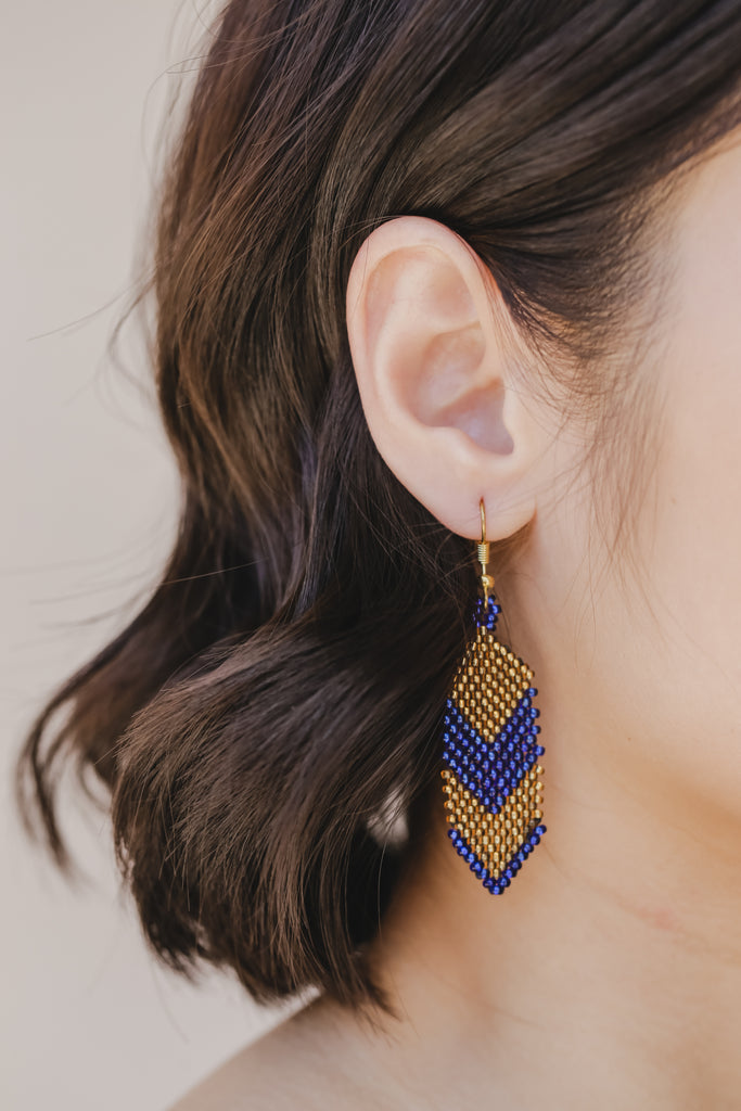 Sesotunawa - Tboli K'lung Udi / Shield Handmade Bead Earrings