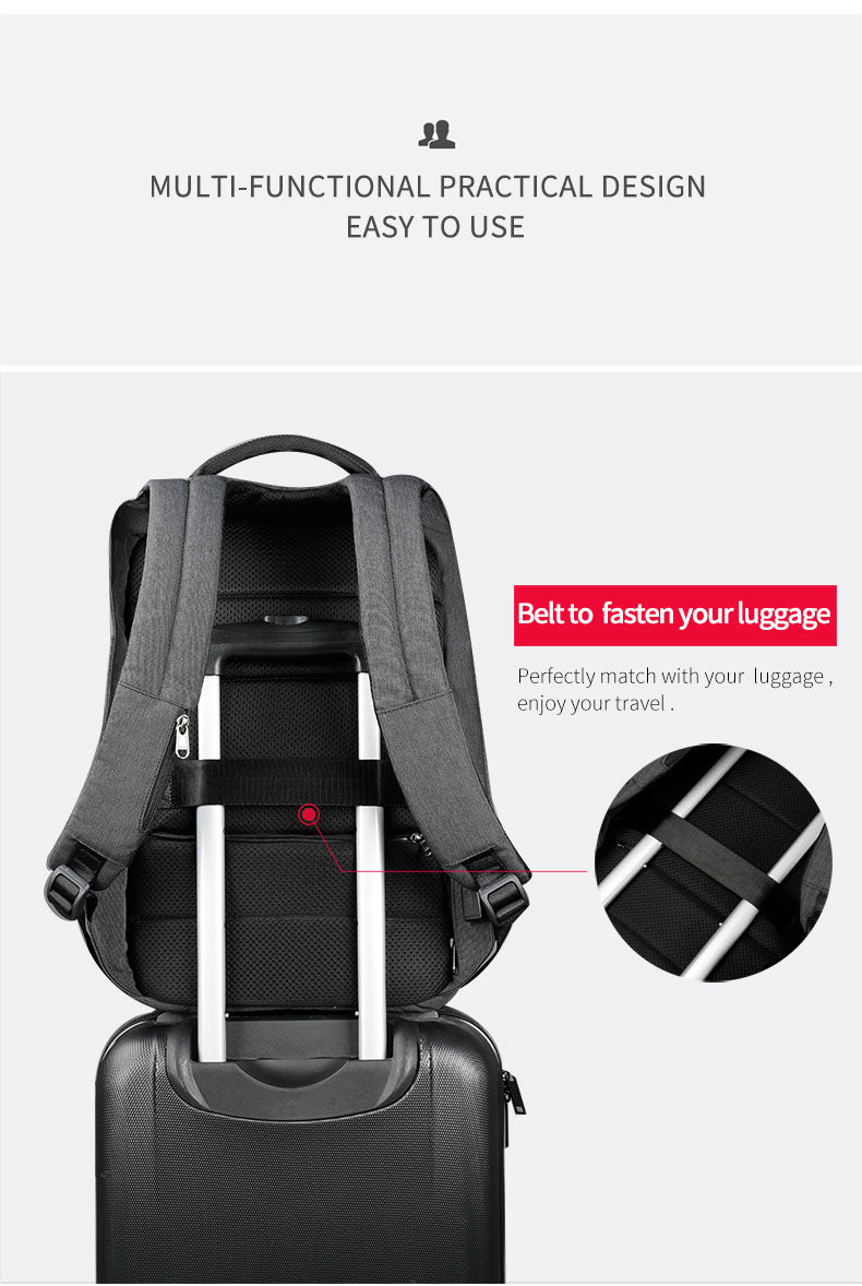 Tigernu Anti-theft Wired Backpack Grey