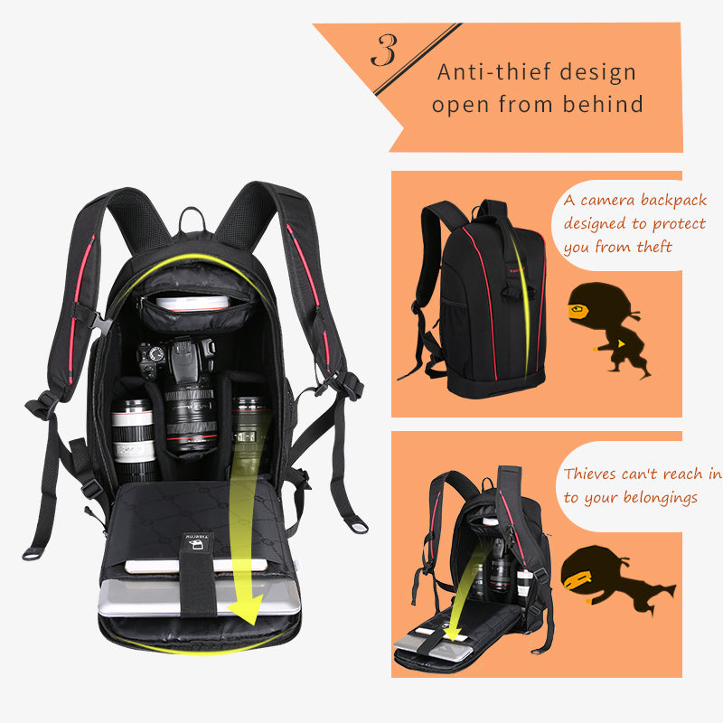 Tigernu T-C6006 Black/Orange Camera Pro Backpack