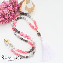 CALISTA ROSE DESIGNS - Beaded Gemstone Necklace - Bittersweet