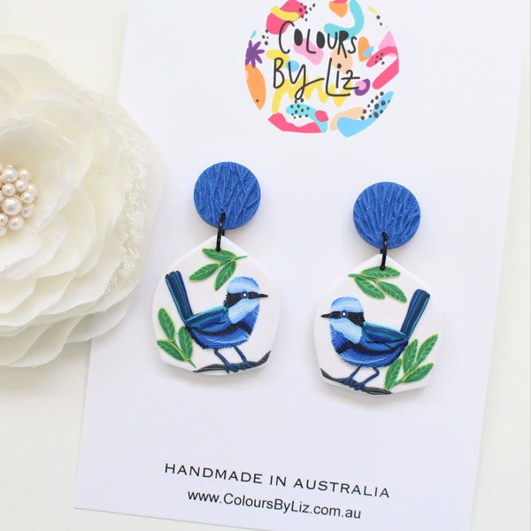 FAIRY WREN - Geometric Dangles