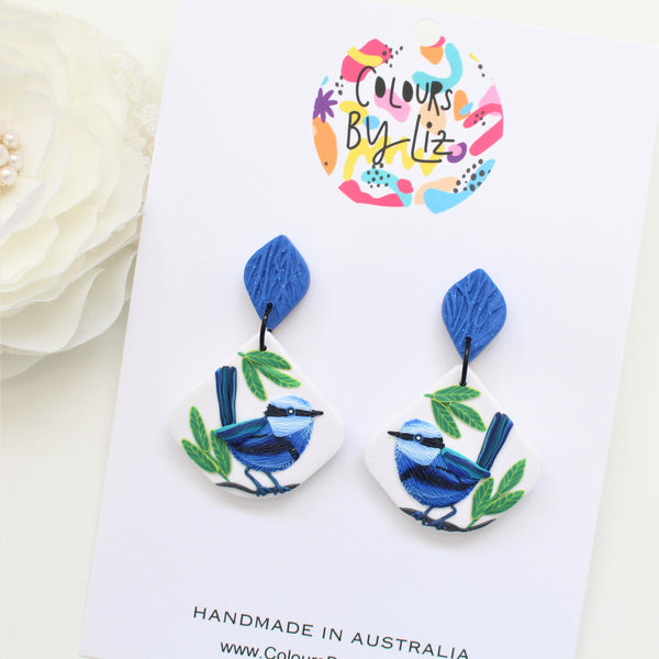 FAIRY WREN - Fan Dangles