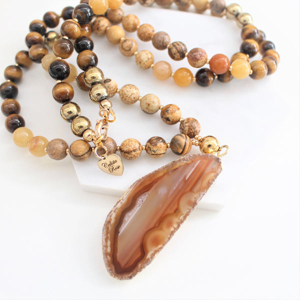 CALISTA ROSE DESIGNS - Beaded Gemstone Necklace - Grand Canyon