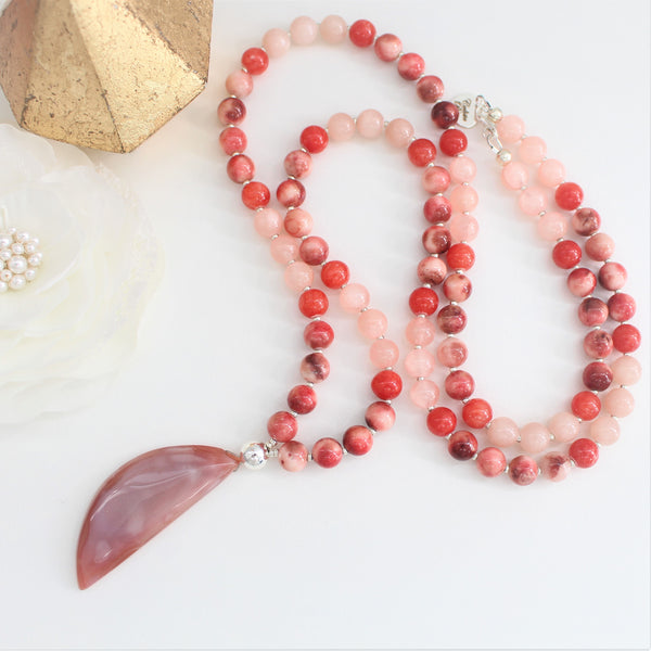 CALISTA ROSE DESIGNS - Beaded Gemstone Necklace - Lunar