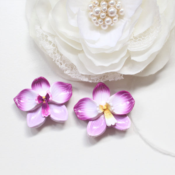 ORCHIDS - Statement Studs/ Hooks (Mismatched)