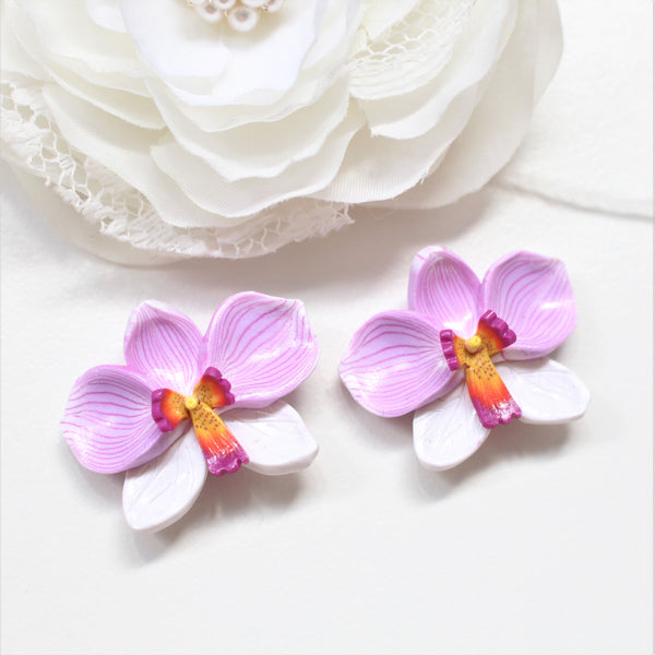 ORCHIDS - Statement Studs/ Hooks