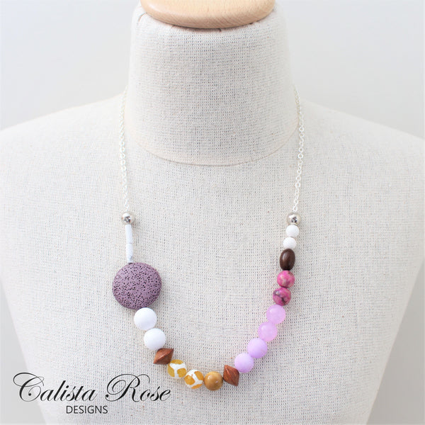 CALISTA ROSE DESIGNS - Beaded Gemstone Necklace - Passionfruit