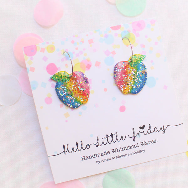 HELLO LITTLE FRIDAY - Rainbow Apple Dangles
