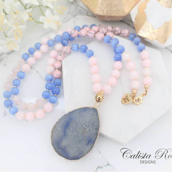 CALISTA ROSE DESIGNS - Beaded Gemstone Necklace - Serenity