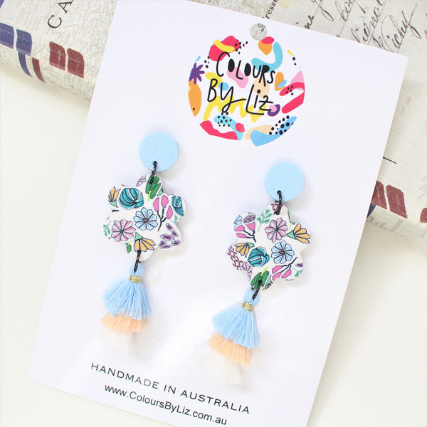 SKETCHBOOK FLORALS - Flower Tassel Dangles