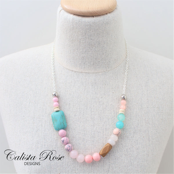CALISTA ROSE DESIGNS - Beaded Gemstone Necklace - Sugar Baby Love