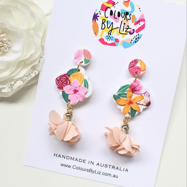 SUMMER FLORALS - Geometric Dangles