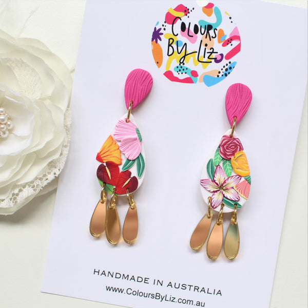 SUMMER FLORALS - Teardrop Dangles