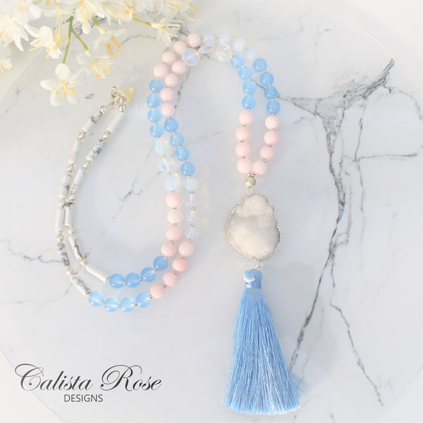 CALISTA ROSE DESIGNS - Beaded Gemstone Necklace - Sweetheart
