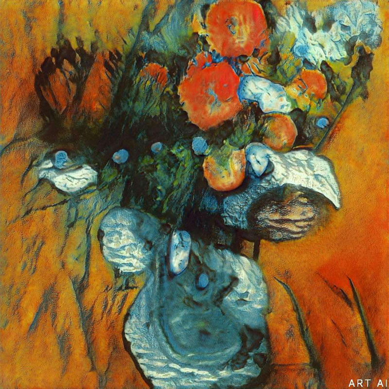 Flowers With Orange Background