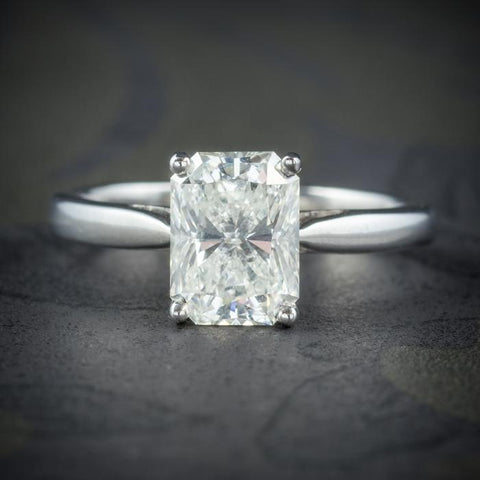 Art Deco Princess Cut Diamond and Platinum Ring