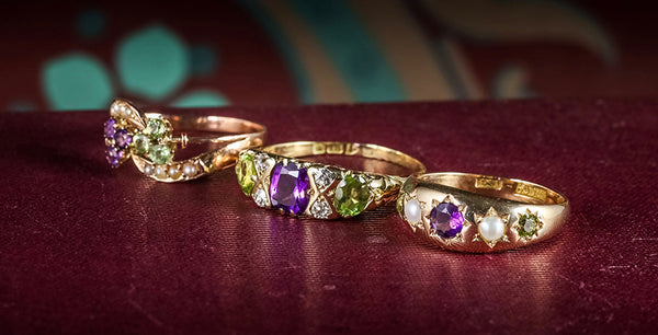 Suffragette Rings Lined Up