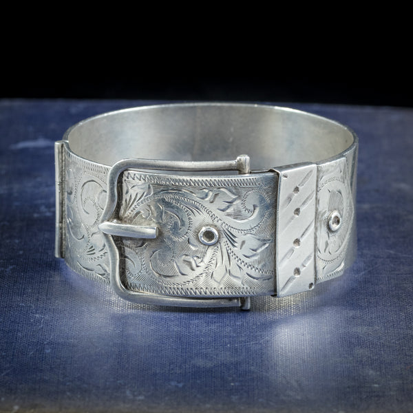 Sterling Silver Buckle Bangle Dated 1965