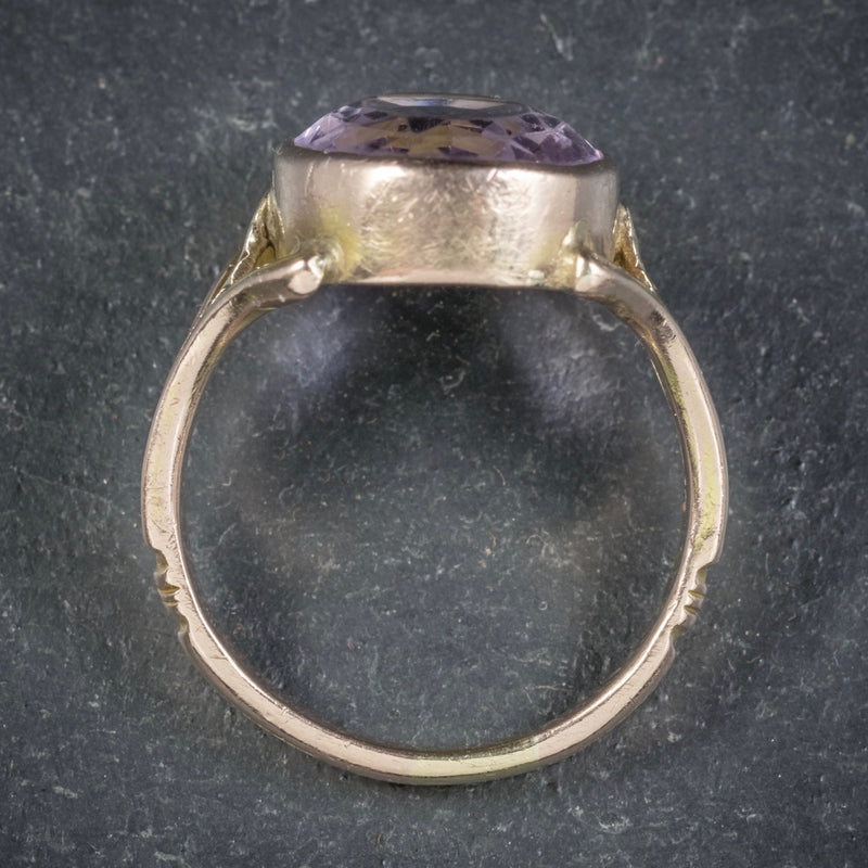 Antique Arts and Crafts Purple Spinel Ring 15ct Gold Circa 1900 TOP