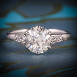 ANTIQUE DIAMOND ENGAGEMENT RING SOLITARE 1.50CT VVS1