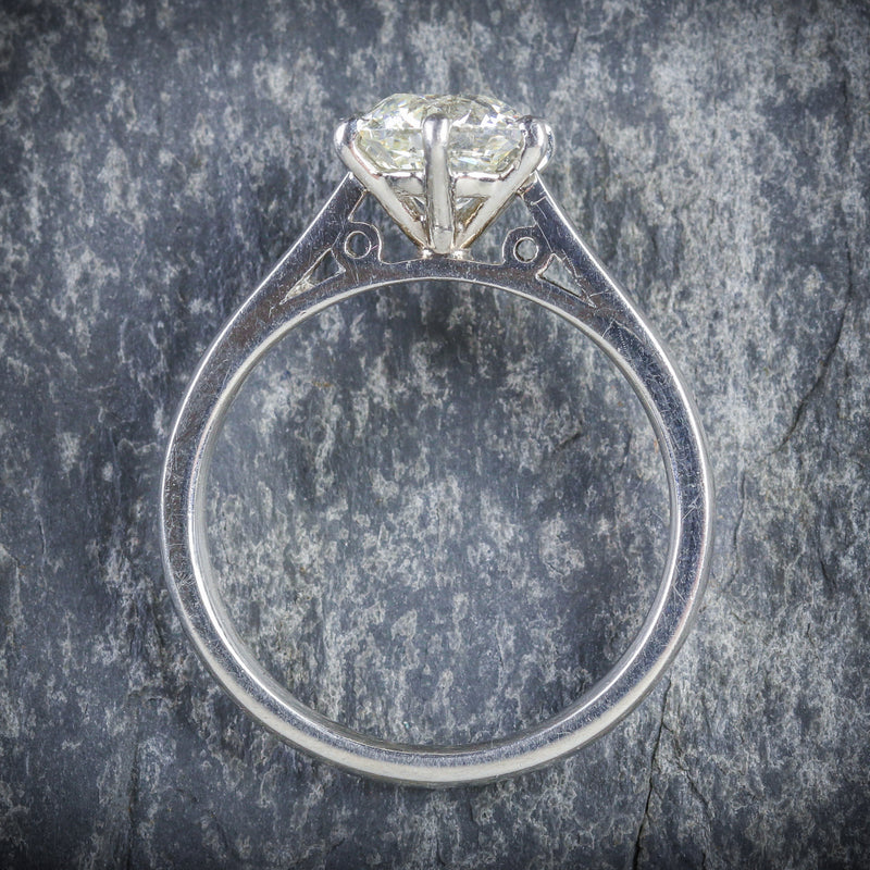 ANTIQUE EDWARDIAN 1.60CT DIAMOND RING PLATINUM ENGAGEMENT CIRCA 1910 VS1 TOP