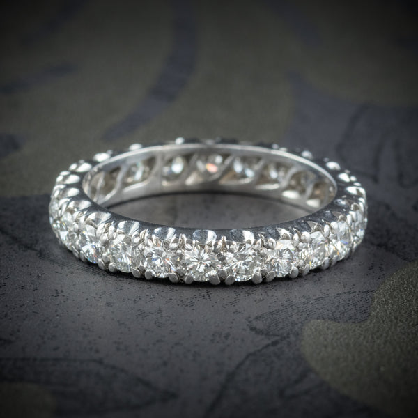 Antique Edwardian Diamond Eternity Ring Platinum Circa 1915 cover