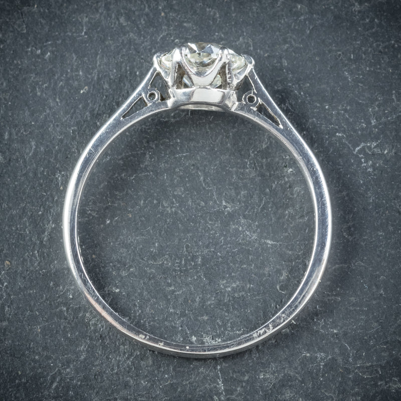Antique Edwardian Diamond Engagement Ring Platinum Circa 1910 TOP