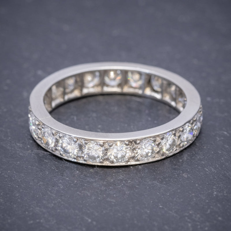ANTIQUE EDWARDIAN FULL DIAMOND ETERNITY RING 18CT WHITE GOLD CIRCA 1910 FRONT
