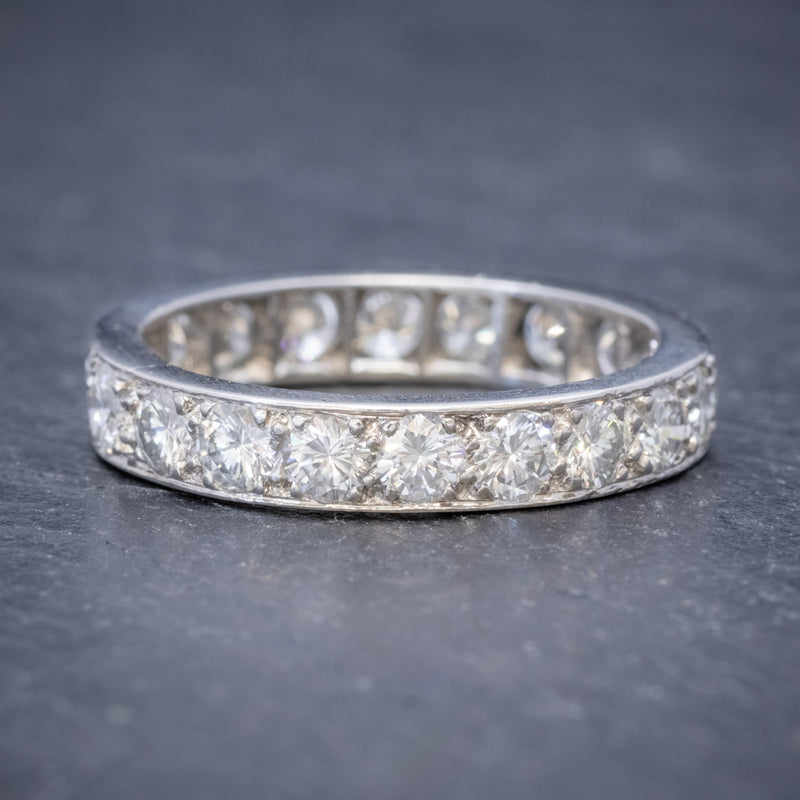 ANTIQUE EDWARDIAN FULL DIAMOND ETERNITY RING 18CT WHITE GOLD CIRCA 1910 SIDE