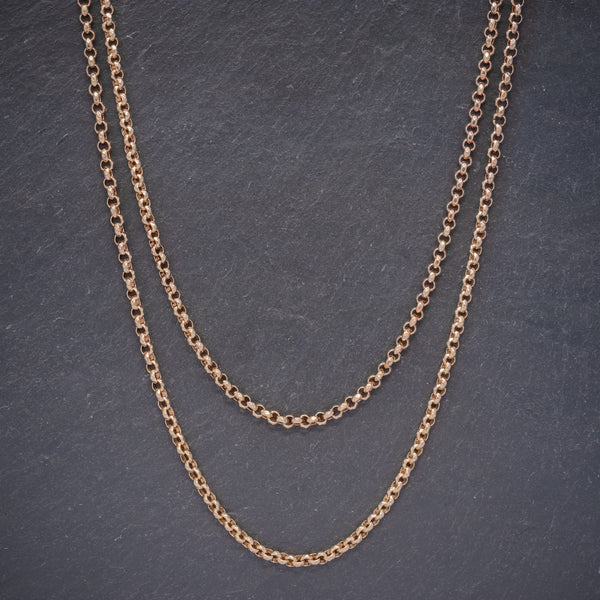 Antique Edwardian Gold Cased Belcher Guard Chain Dated 1903 front