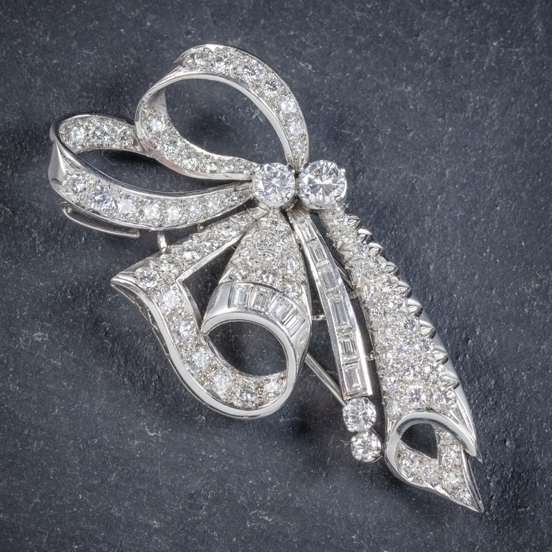 Antique French Edwardian 15ct Diamond Double Clip Brooch Platinum Circa 1915 clip