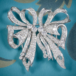 Antique French Edwardian 15ct Diamond Double Clip Brooch Platinum Circa 1915 cover