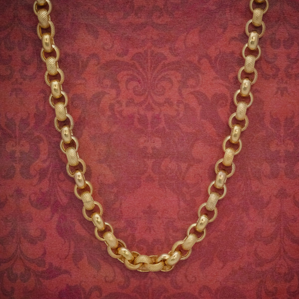 ANTIQUE GEORGIAN CABLE CHAIN NECKLACE 18CT GOLD SILVER CIRCA 1800 COVER