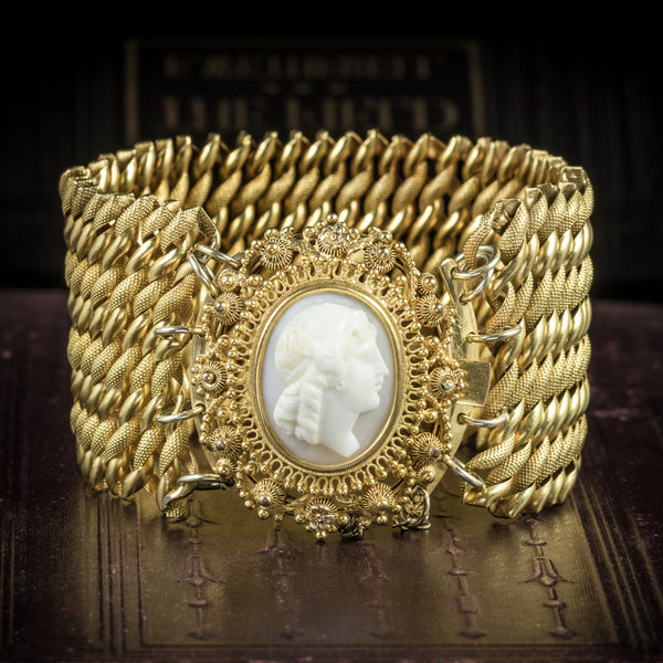 Antique Georgian Cameo Bracelet Pinchbeck Circa 1810 COVER