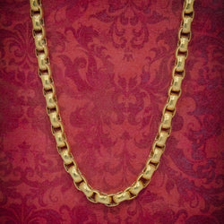 ANTIQUE GEORGIAN GOLD CABLE CHAIN 18CT GOLD ON STERLING SILVER CIRCA 1830 COVER