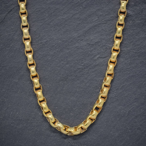 ANTIQUE GEORGIAN GOLD CABLE CHAIN 18CT GOLD ON STERLING SILVER CIRCA 1830 FRONT