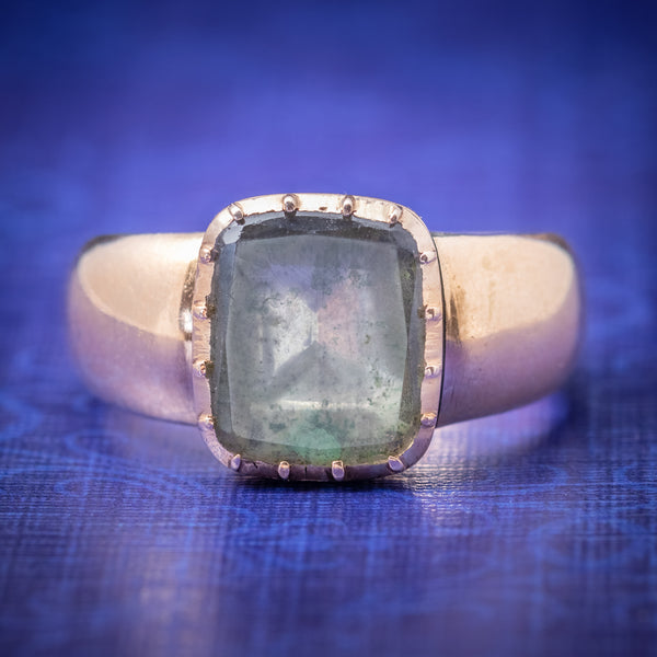 Antique Georgian Ring 18ct Gold Rock Crystal Circa 1780 cover