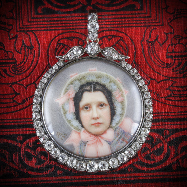 ANTIQUE SUFFRAGETTE DIAMOND PENDANT - WIFE OF SYBIL THOMAS VISCOUNTESS RHONDDA COVER