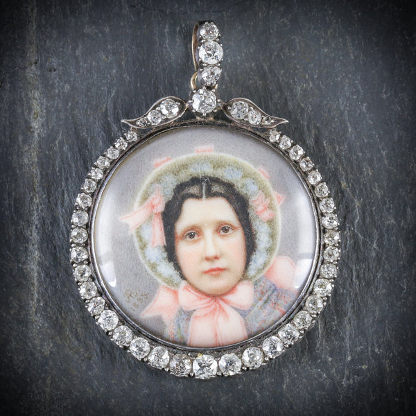 ANTIQUE SUFFRAGETTE DIAMOND PENDANT - WIFE OF SYBIL THOMAS VISCOUNTESS RHONDDA FRONT