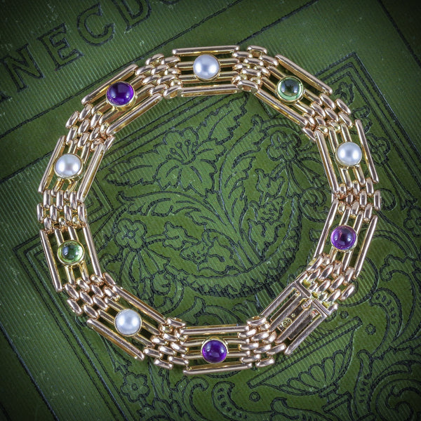 ANTIQUE VICTORIAN 15CT GOLD SUFFRAGETTE BRACELET CIRCA 1900 COVER