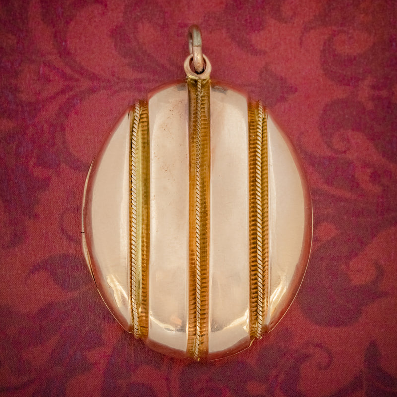 Antique Victorian 18ct Gold Locket Mourning Hair Circa 1860 COVER