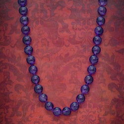 ANTIQUE VICTORIAN AMETHYST NECKLACE 18CT GOLD CLASP CIRCA 1900 COVER