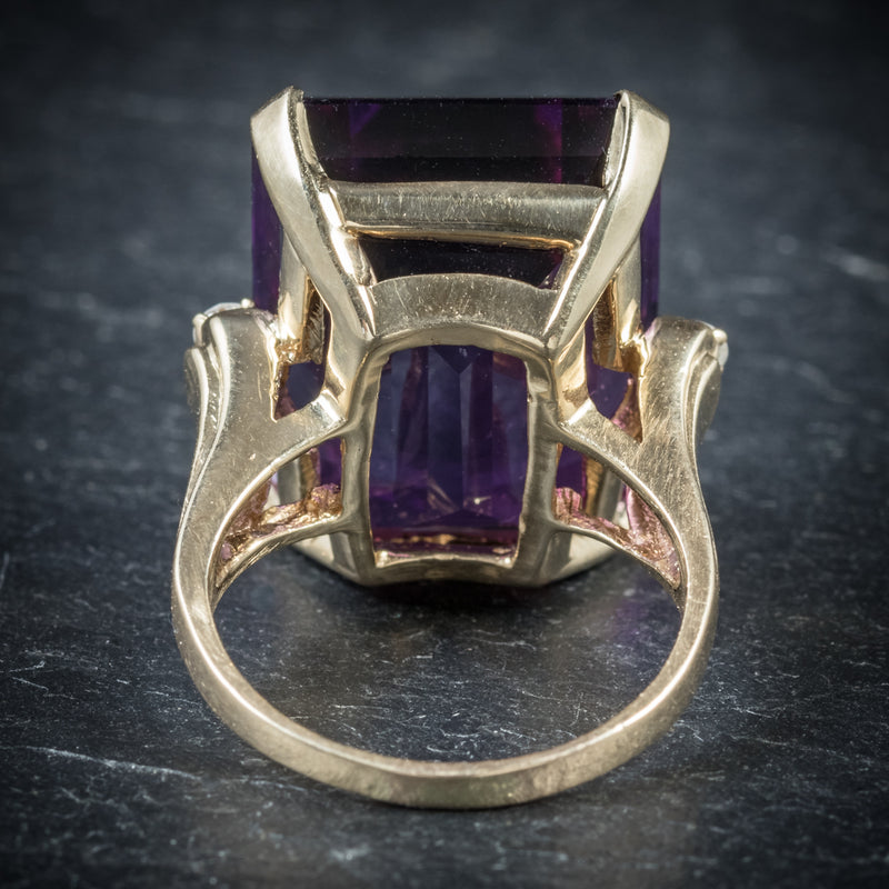 Antique Victorian Amethyst Ring 18ct Gold Circa 1900 back