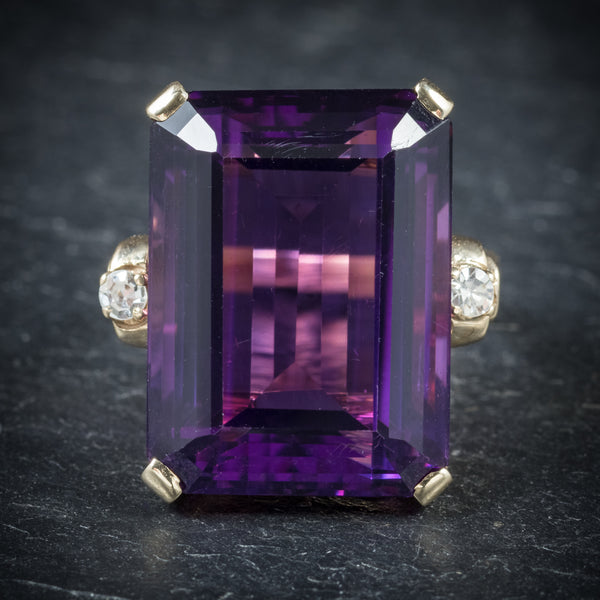 Antique Victorian Amethyst Ring 18ct Gold Circa 1900 front