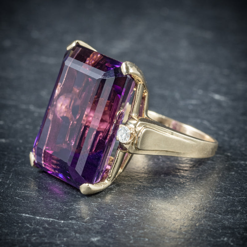 Antique Victorian Amethyst Ring 18ct Gold Circa 1900 side