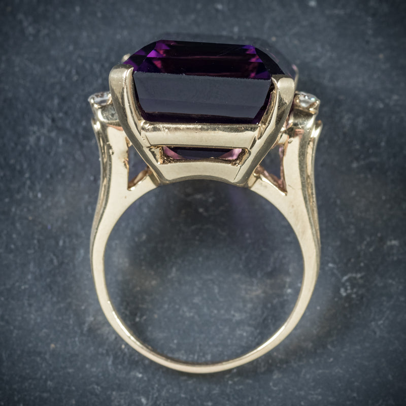 Antique Victorian Amethyst Ring 18ct Gold Circa 1900 top