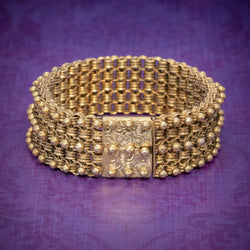 ANTIQUE VICTORIAN BRACELET 18CT GOLD ON SILVER CIRCA 1880 COVER